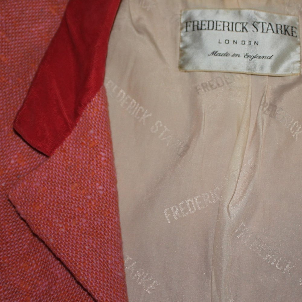 Frederick Starke suit lining, mid 1950s