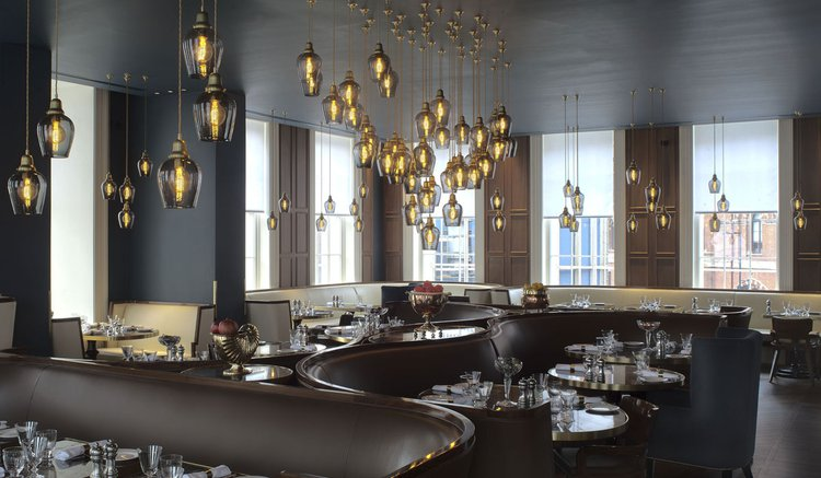 Lighting by Rothschild & Bickers installed in a restauarant