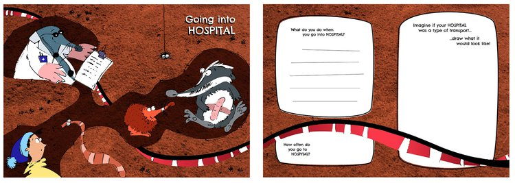 Activity booklet design probe given to Great Ormond Street Hospital (GOSH) patients to gain insights