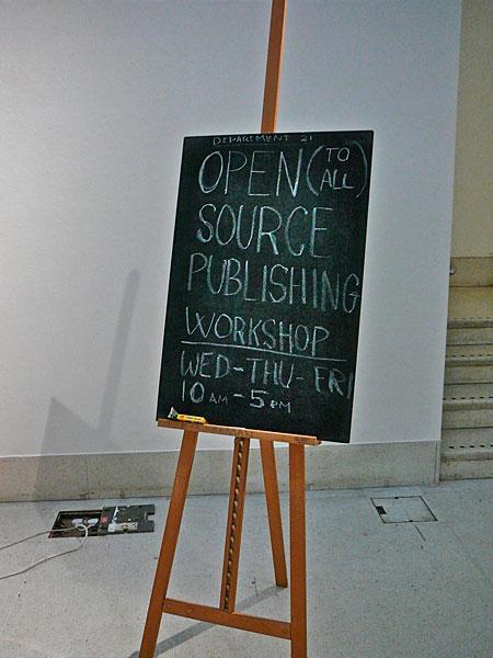Open Source Publishing Workshop