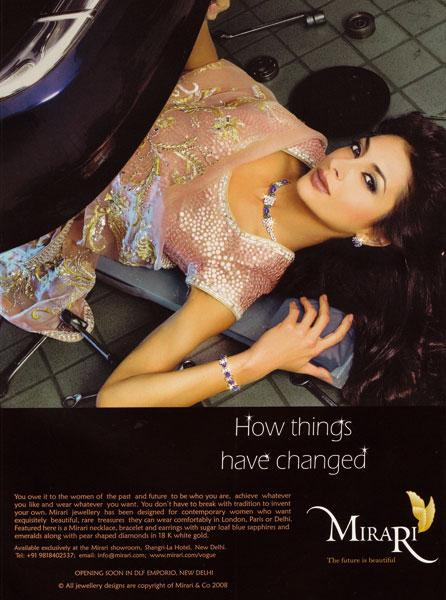 Advertisement for Mirari, in Vogue India