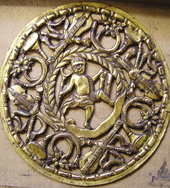 An Eighteenth-century Guittar Rose During Conservation