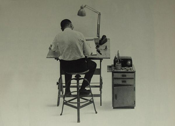 Art Director at His Drawing Board