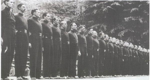 Parade of Uniformed Blackshirts