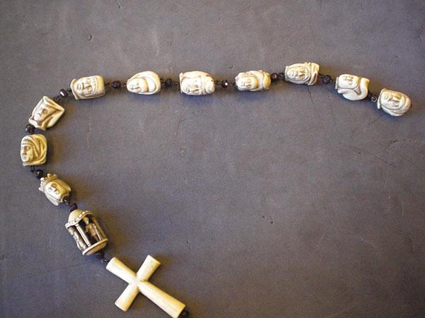Carved Ivory Rosary with Garnet Beads, Belgium, c. 1500 (1879,0203.2)