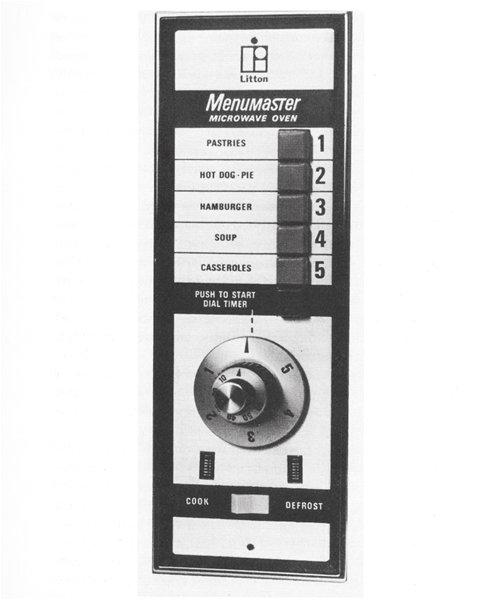 Control Panel of Litton Menumaster Microwave Oven