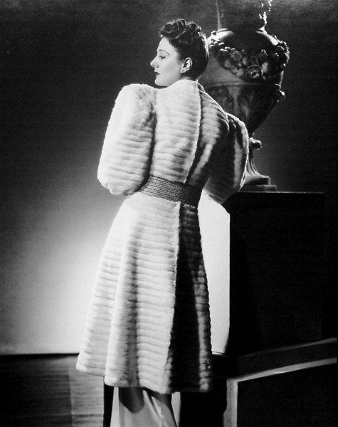 Puma Fur Coat with Matching Gold and Diamond Belt, Made by the Furrier Isobel (spring 1941); Reproduced from Isobel Archive, The Archive of Art & Design (AAD/1991/12/2/47)