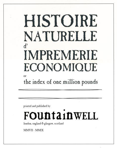 Histoire Naturelle d'Impremerie Economique