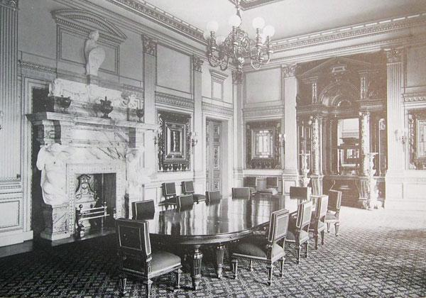 Dining Room, Dorchester House. Interior and Furniture Designed by Alfred Stevens, Furniture Supplied by Holland and Sons, 1856-8