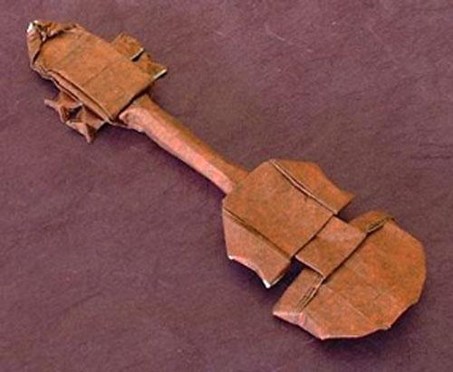 Origami Violin by Daniel Porter
