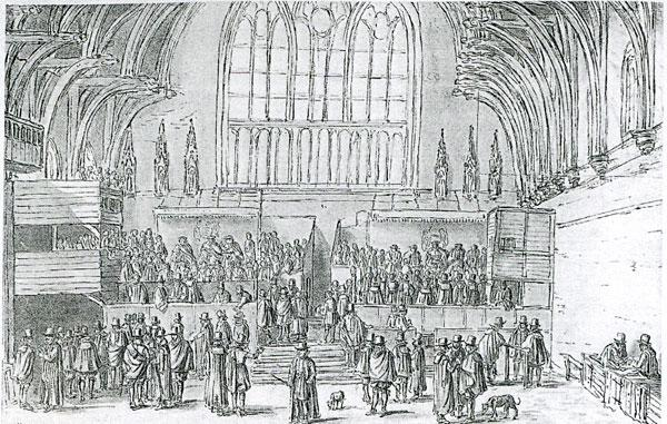 View of the Central Courts of Westminster Hall
