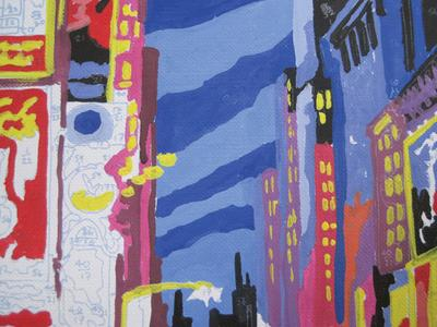 Detail of Times Square, Reeves Painting by Numbers Kit