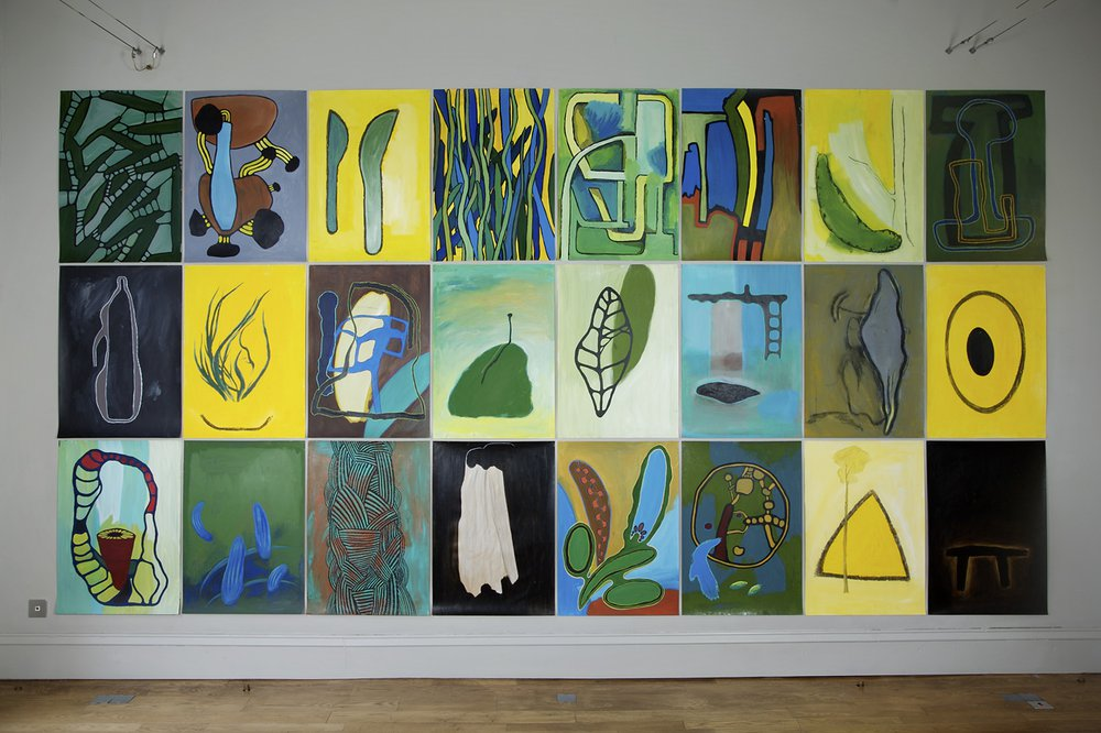 DomoBaal 2007, A grid of 24 paintings