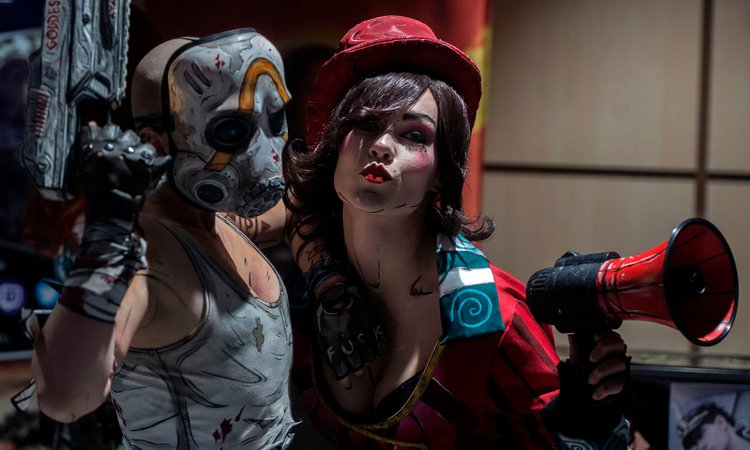 Female fans dressed as video game characters at Comic-Con (Prague), February 2020. Photo: Michal Čížek, Getty Images