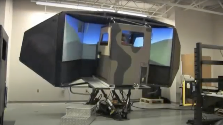 FAAC, the world's leading supplier of accurate, high-speed weapon system simulations. Image taken from military vehicle simulator promotional video