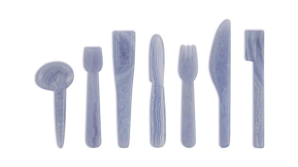 blue lace agate amulets
