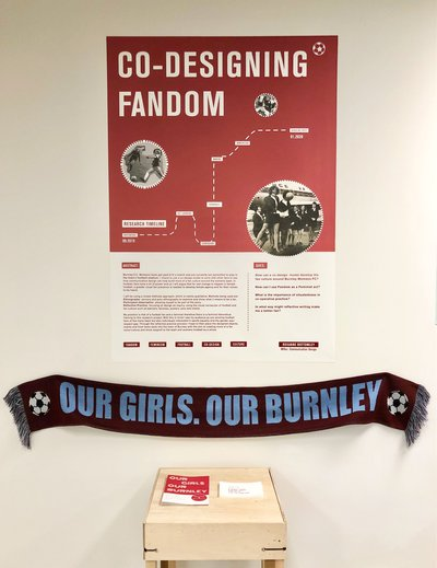Poster and football scarf for Burnley FC women's team