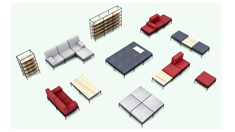 Strata modular furniture
