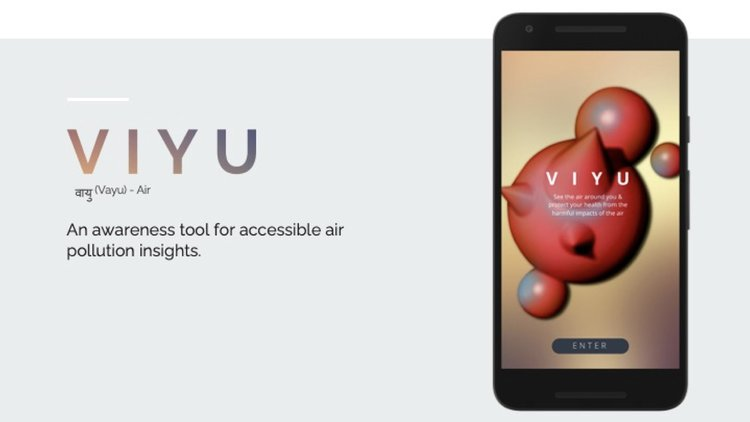 visualisation of the VIYU app on a mobile phone