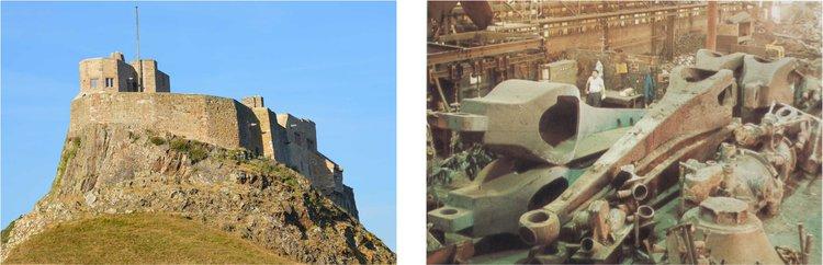 l: Lindisfarne Castle r: Beaubourg Gerberettes