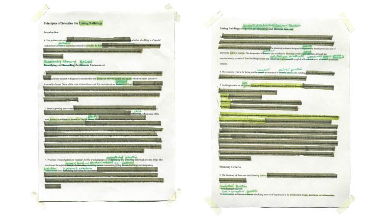 Edited Listing Document Addressing Adaptation