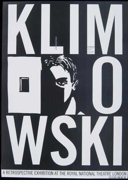 Poster: Klimowski, A Retrospective Exhibition, 2001