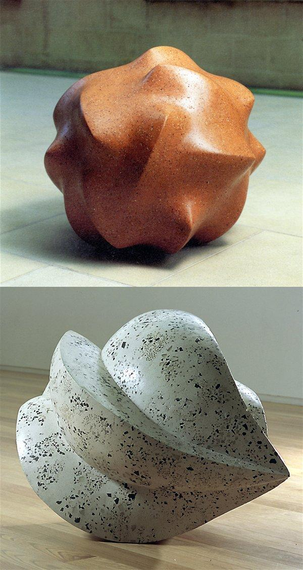 Large-scale ceramic sculptures for the exhibition Sense and Perception, 2001