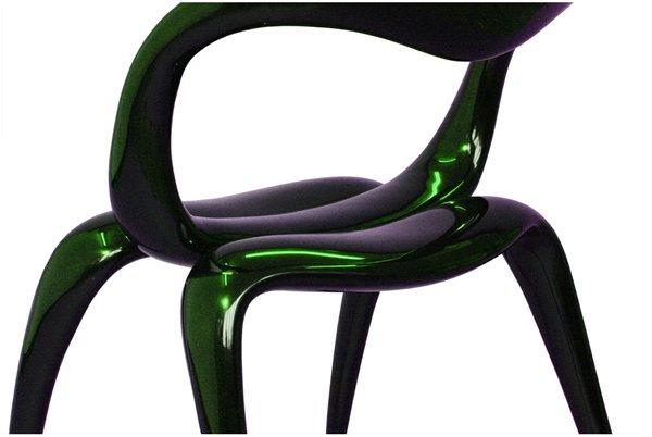 Zuki chair designed by Ashley Hall and Matthew Kavanagh for Diplomat. CNC machined master with fibre reinforced polymer body and black epoxy
