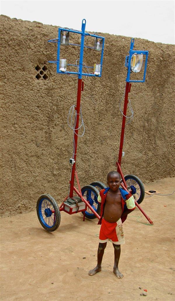 Sustainable solar lighting co-designed and constructed for Bamassobougou village near Segou, Mali