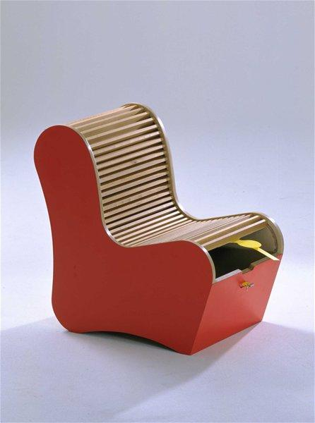 Children's Chair Combining Seating and a Secretive Storage Space (Manufactured Offi, USA)