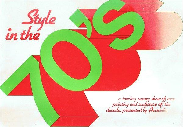 Cover of exhibition catalogue 'Style in the 70s' a touring exhibition organised by ArtScribe magazine, 1979
