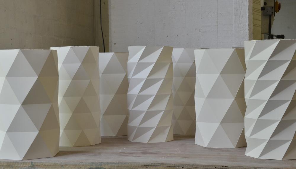 Slip Cast Geometric Forms