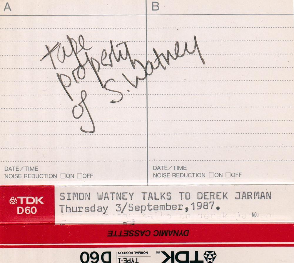 Simon Watney talks to Derek Jarman (3 September 1987)