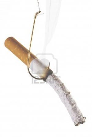 819232: A Burning Cigarette on a Fishing Hook