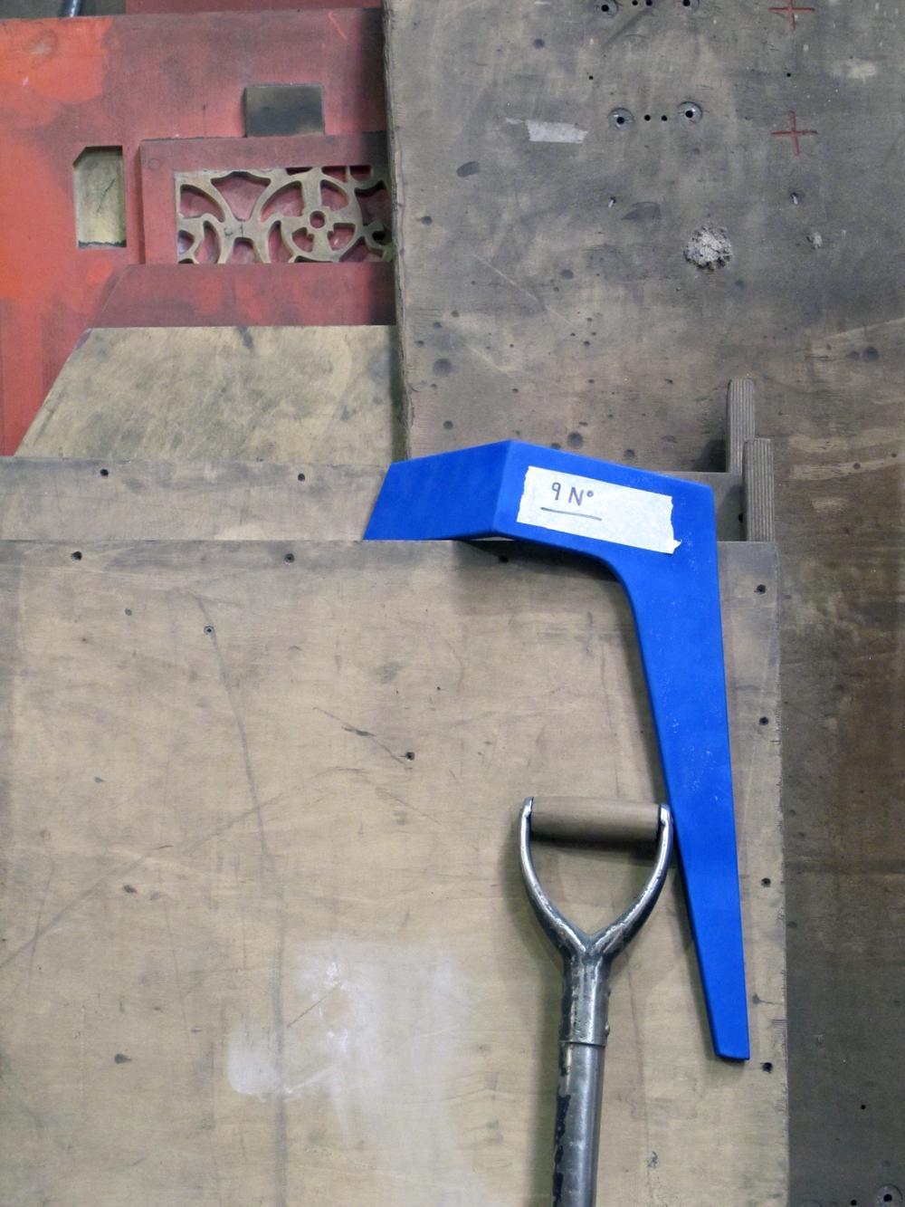 Cast Iron and Enamel Stool in the Foundry