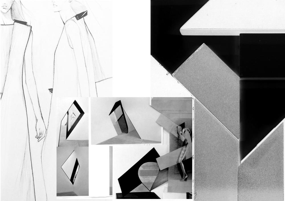 Collage of Collection (details: drawings and inspirations)