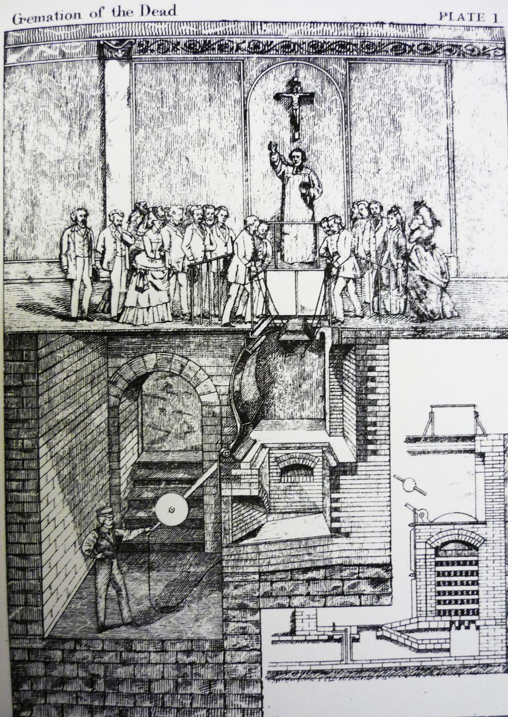 Cremation of the Dead, view of a Siemens' Cremation Apparatus