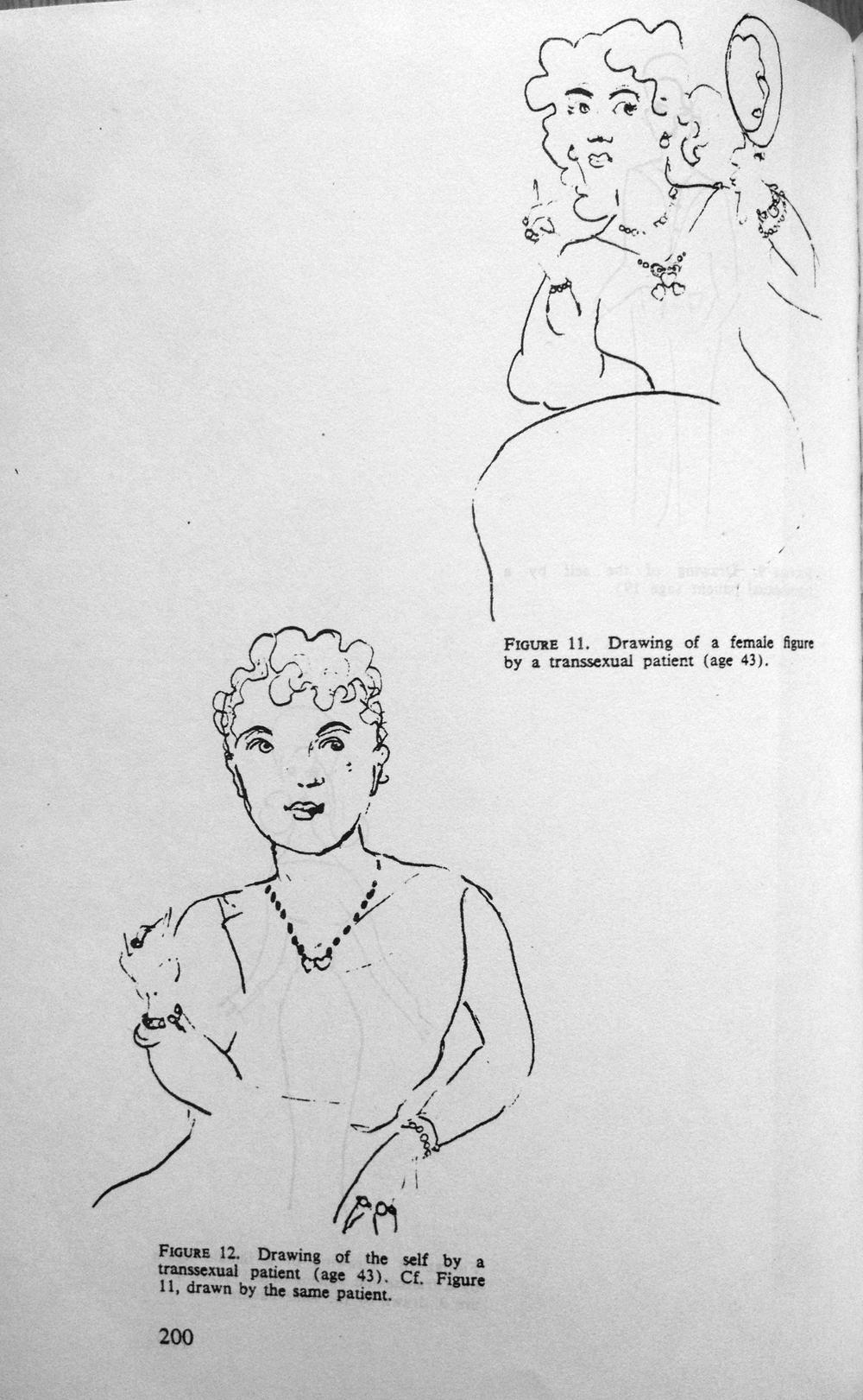 Drawing of the Self by a Transsexual patient, c. 1969
