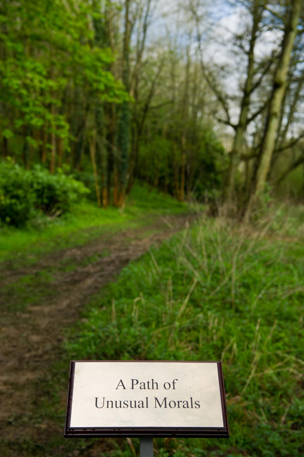 A Path of Unusual Morals (1 of 7 garden plaques)