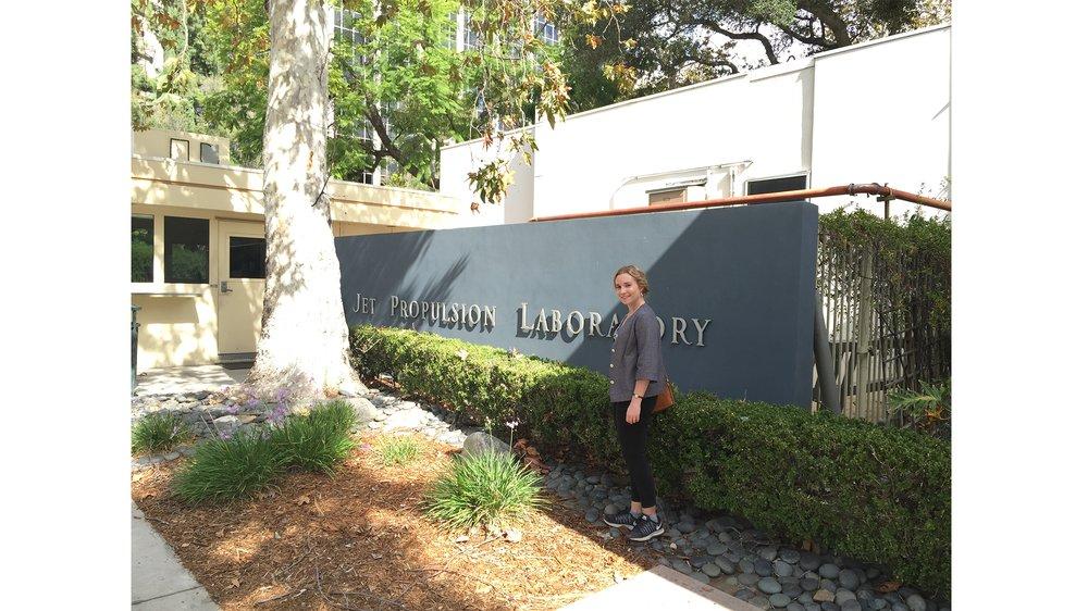 Luci Eldridge, visit to NASA Jet Propulsion Laboratory, Pasadena CA