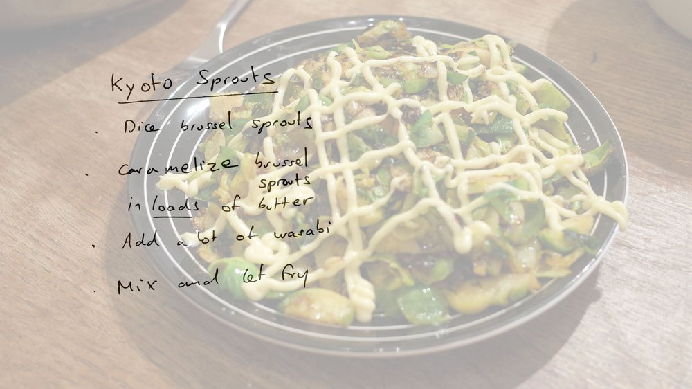 Kyoto sprouts recipe designed by participant