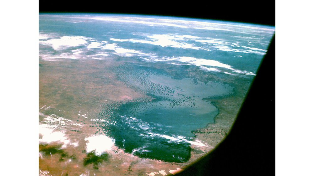 Lake Chad as seen from Space in 1968