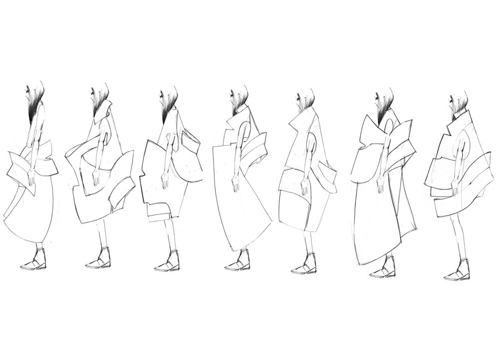 Synch 2014 sketches, large scale pieces development