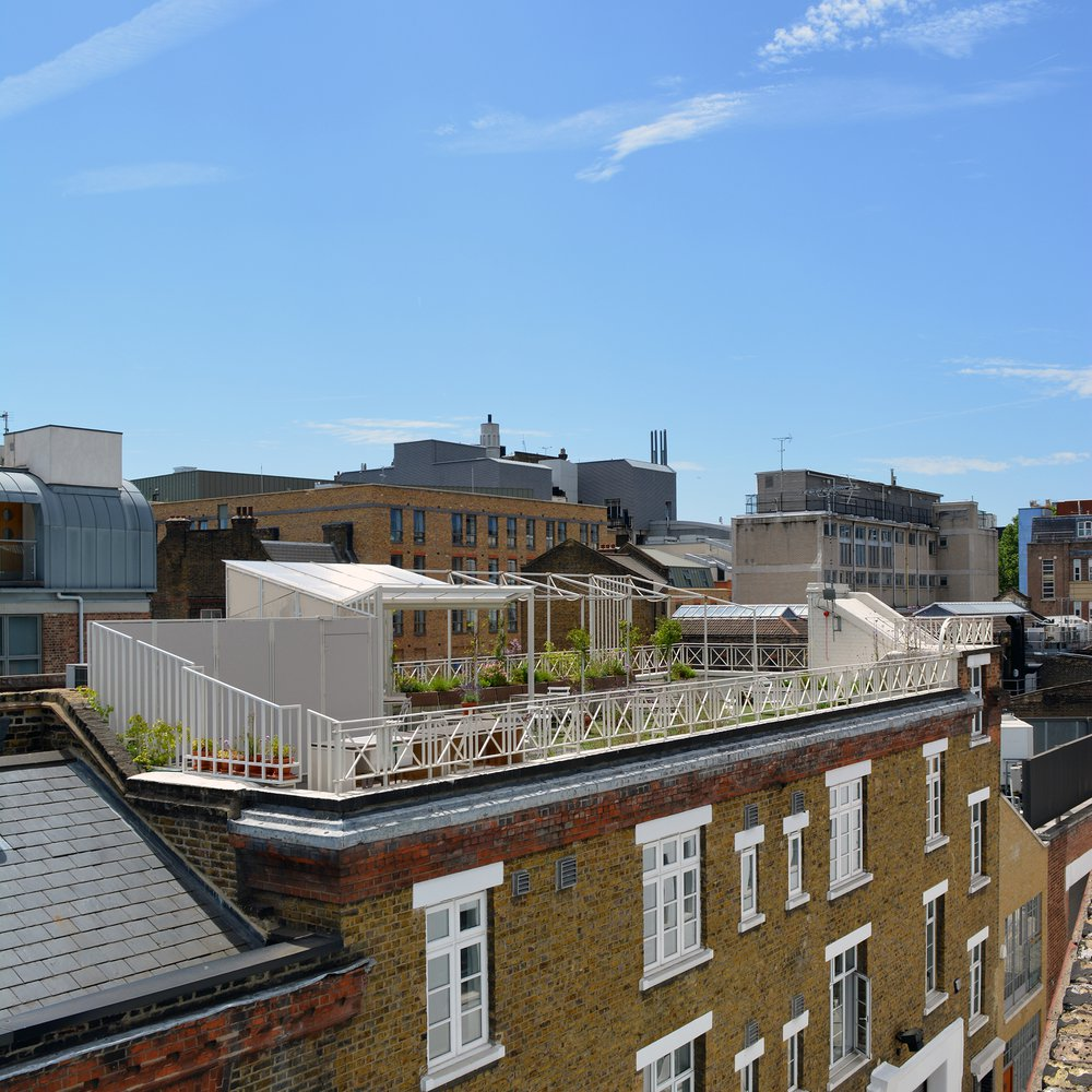 New rooftop space for the Paul Hamlyn Foundation, by DK-CM. Completed 2014
