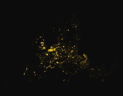 Europe Light Pollution