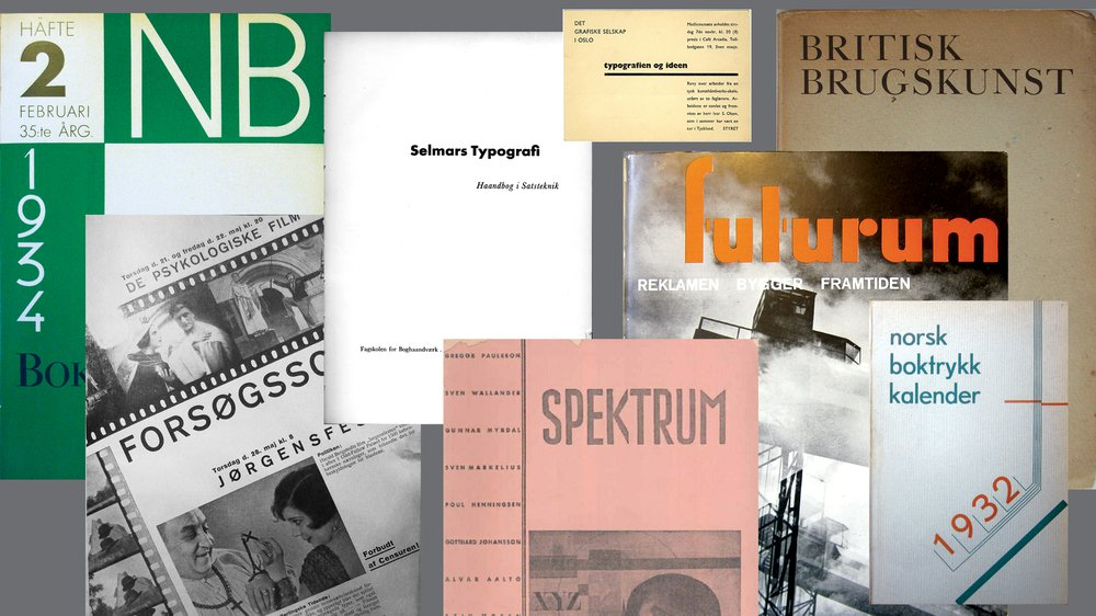 Selection of printed materials documented as part of the research project
