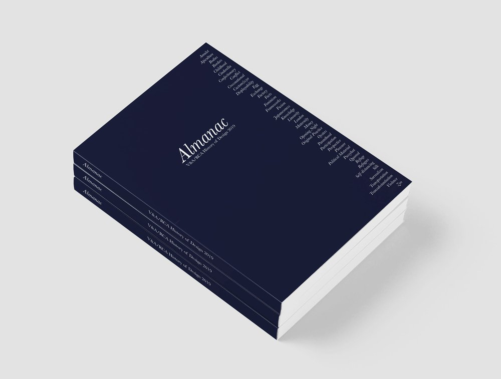 Almanac, History of Design publication, 2019