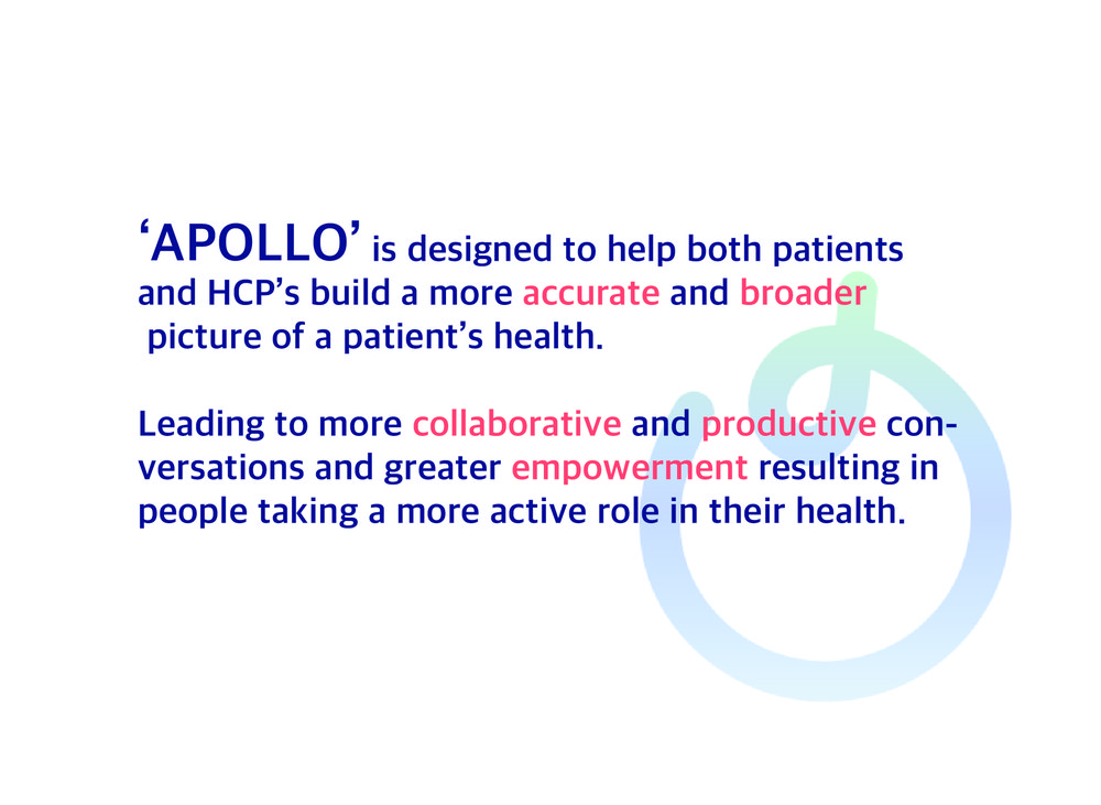 APOLLO; Re-designing the health review for patients with long term conditions (LTCs)