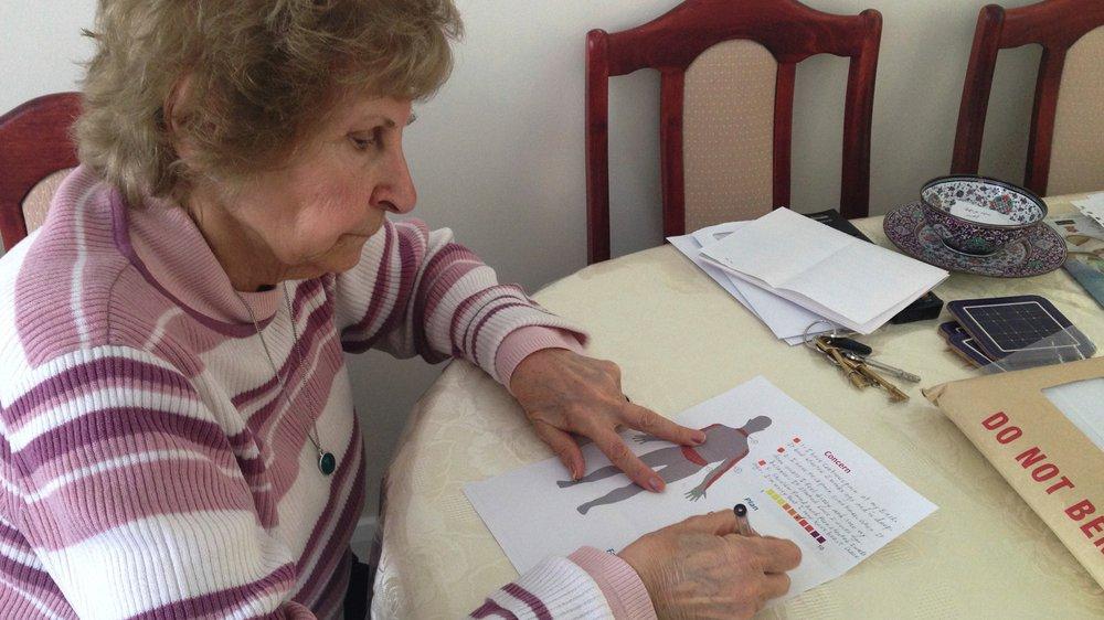 Patient preparing her Concern