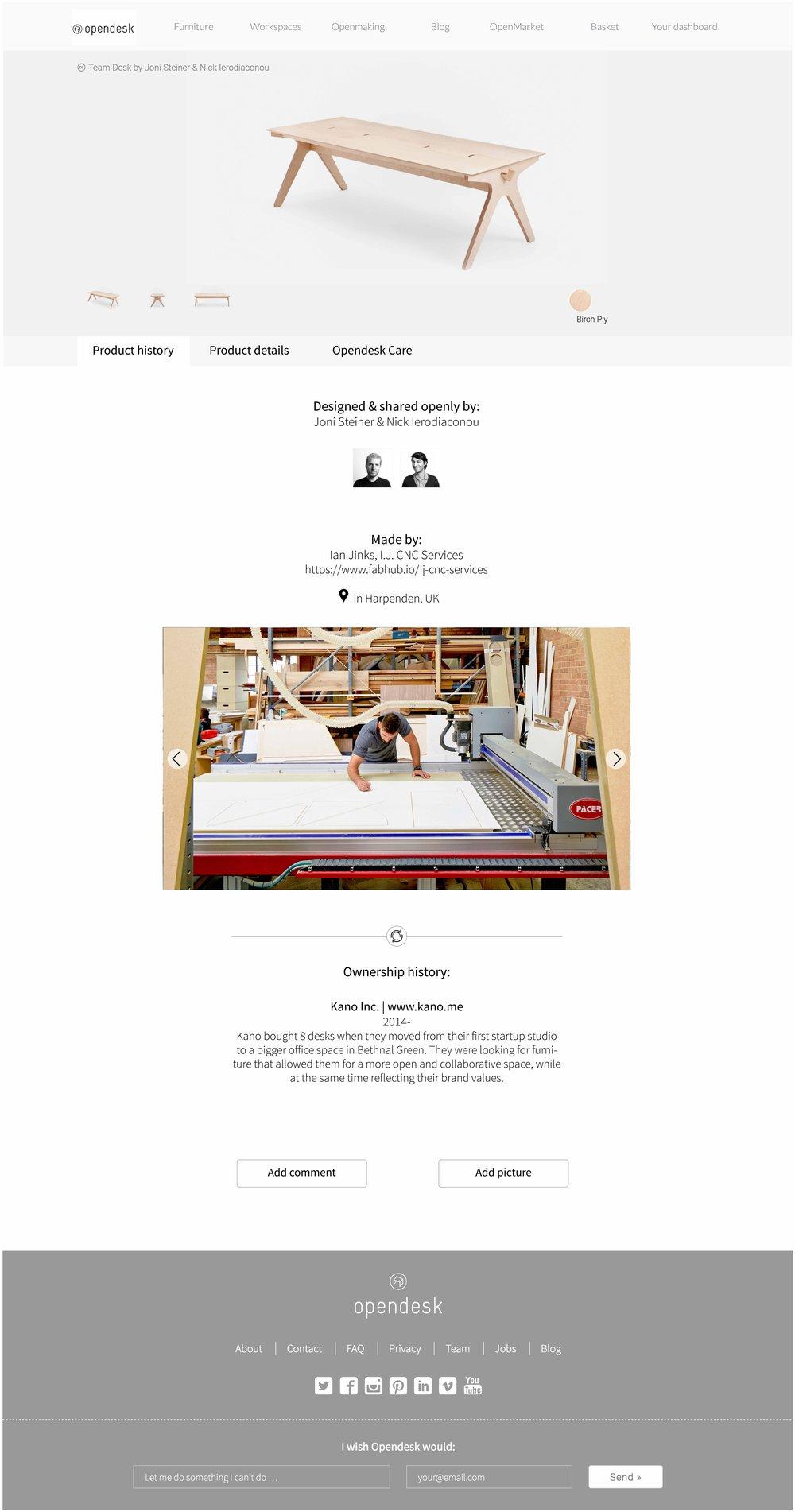 Provenance platform - Design for product attachment